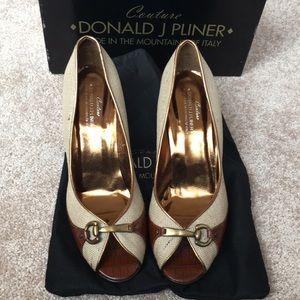 Donald J Pliner heels. Good condition. Worn.